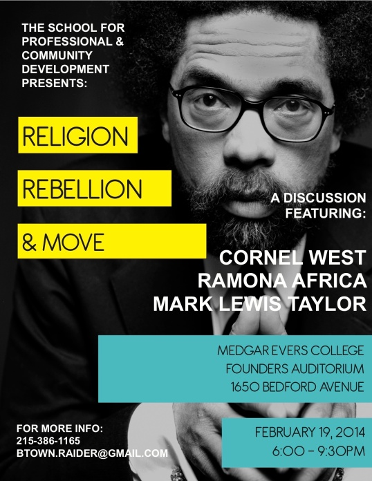 Religion and Rebellion Event Flyer
